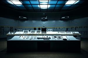 контрол център, стая, работно място, тъмно, сянка, интериор