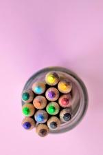 crayon, colors, object, jar