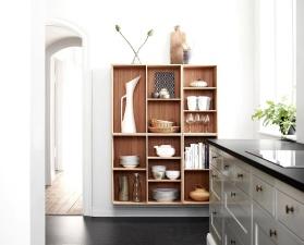 Innenraum, zimmer, küche, möbel