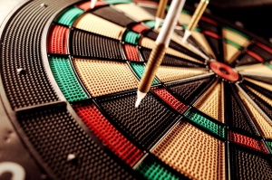pikado játék, a cél, a nyíl