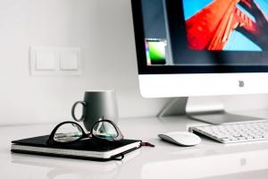 számítógép, design, szemüvegek