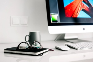 computer, design, eyeglasses