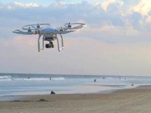 dron, gadget, flight, beach