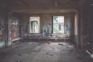 Intérieur, vide, abandonné, pièce