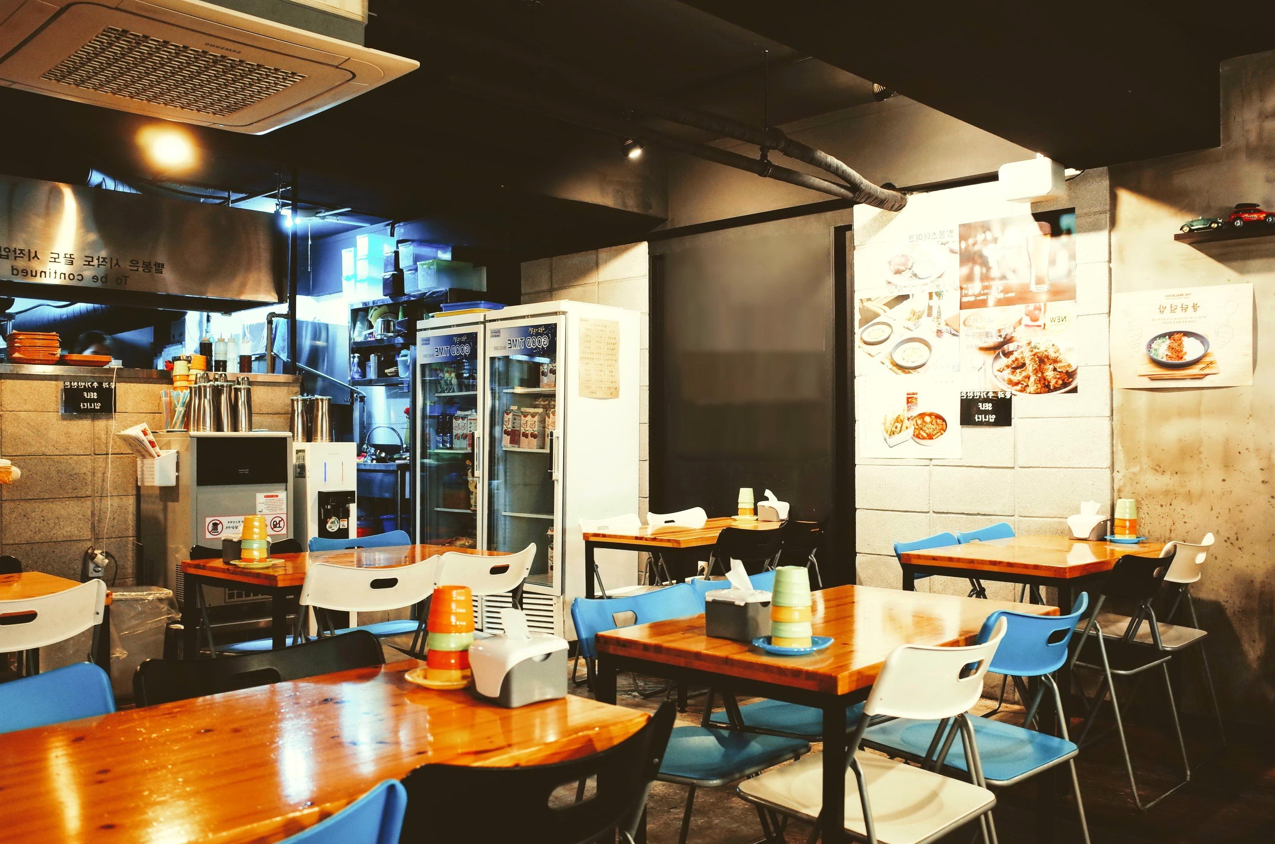 empty interior restaurant furniture