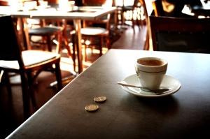 Vuoto, ristorante, interno, caffè, tazza, tavola