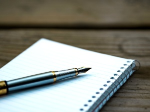 Vacío, papel, pluma, libro, objeto