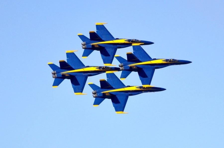 repülőgép, blye ég, katonai, ég, repülőgép