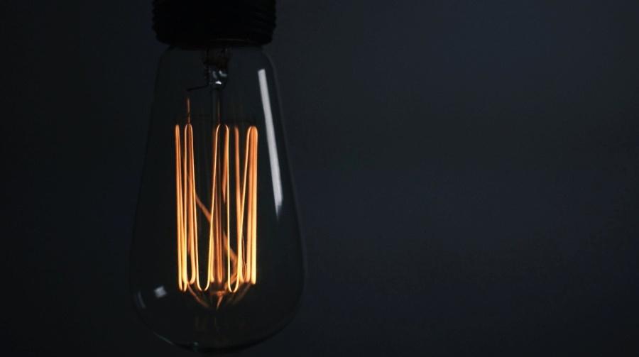 žiarovka, technológie, tma, svetlo, tmavé