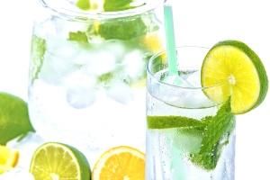 voćni sok, svježe, limunada, led