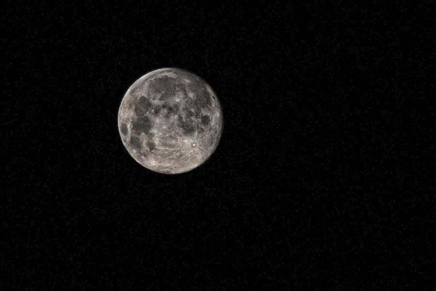 Måne, nat, sky, moonlight