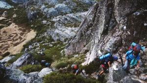 Grupul, oameni, alpinism, munte, sport
