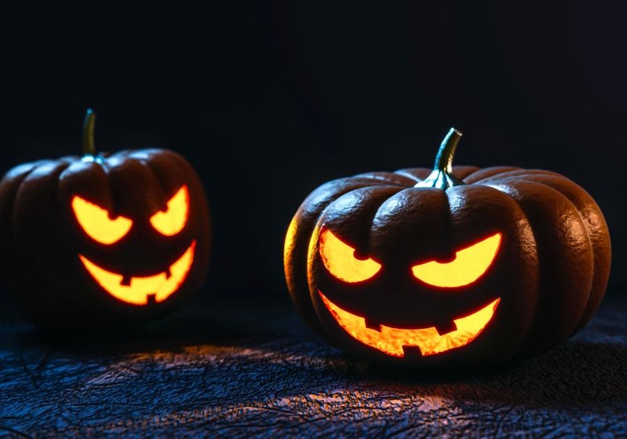 halloween, pumpkin, lamp, dark, holiday