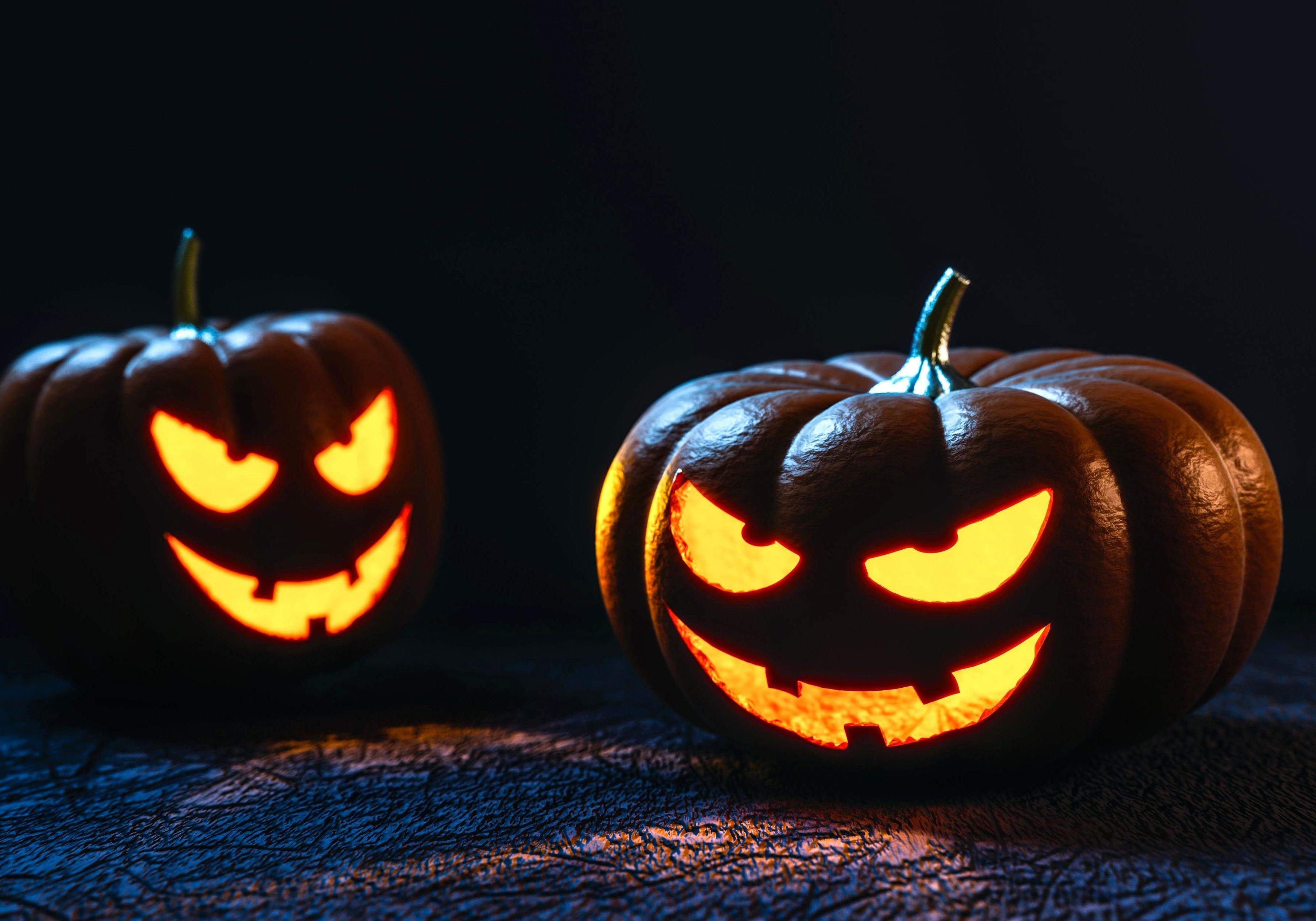 Free picture: Halloween, holiday candles
