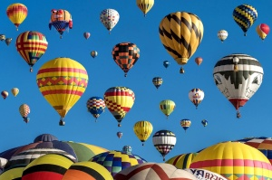 hot, air, ballons, sky, balloon, aircraft