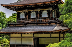 hus, udvendige, traditionelle arkitektur, Asien, arkitektur