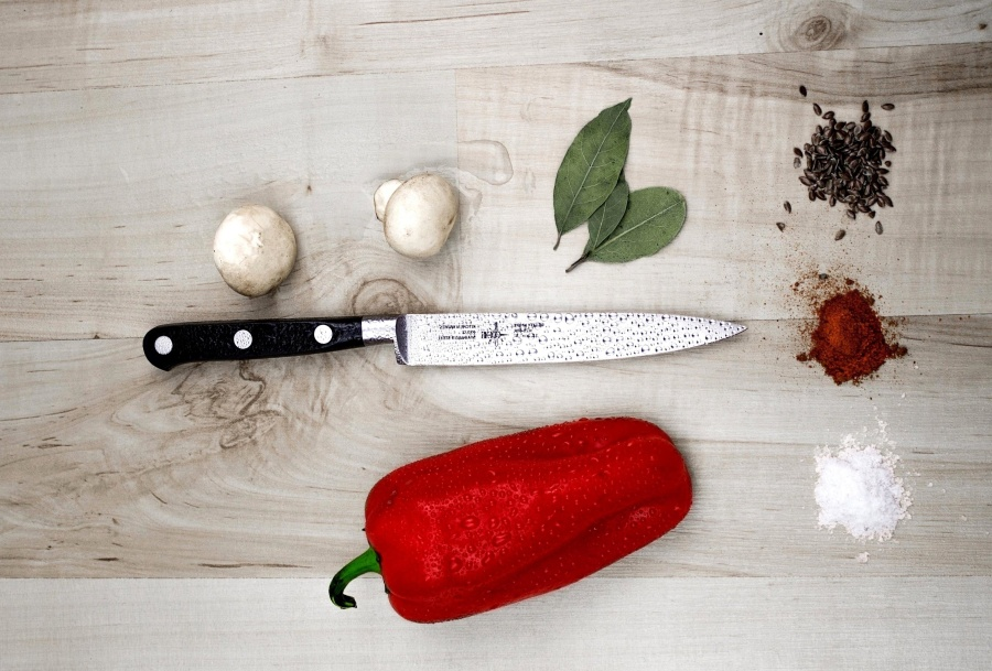 knife, spices, red, pepper