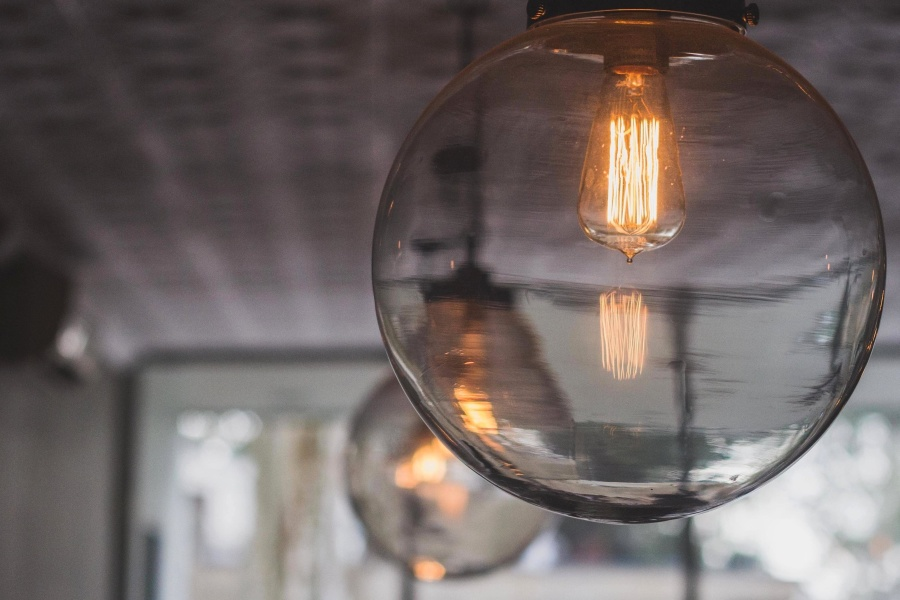 světlo žárovky, luxus, dekorace, moderní, interiér, světlo