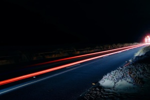 lights, road, night