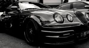 สีดำ หรู รถสปอร์ต
