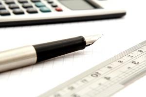 matematika, számológép, ceruza, papír