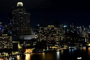 νύχτα, πόλη, Πανόραμα, αρχιτεκτονική, στο κέντρο της πόλης, Πύργος