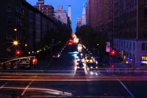 architecture, night, road, downtown, tower, street, travel, highway, night, crossroad, city
