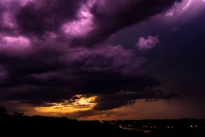 night, sky, lightning, atmosphere, sun, sky, clouds, sunset