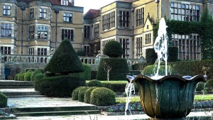 palace, garden, luxury, architecture, fountain, exterior, facade