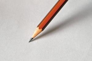 pencil, white paper