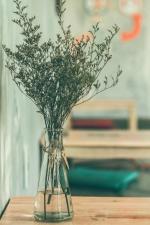 interiér, dekorace, sklo, váza