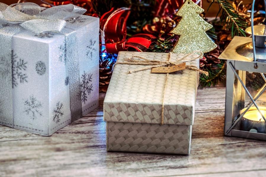 Presente, cesto, contenitore, vacanza, regalo