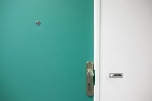 wall, interior, green, door
