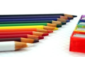colors, crayon, pencil, education, school, rainbow