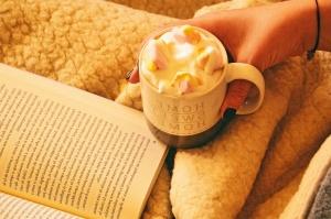 reading, cup, dessert, food, breakfast, meal