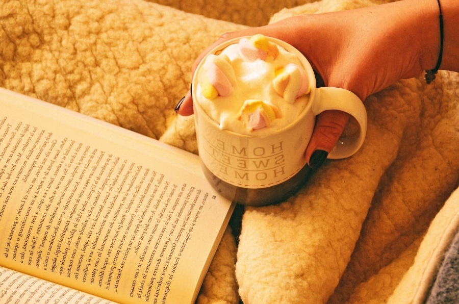 reading, cup, dessert, food, breakfast, meal
