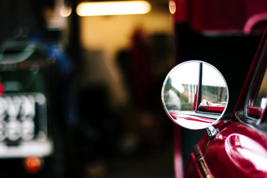 огледало, автомобил