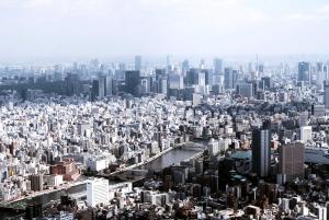river, tower, downtown, through, city, manhattan, urban, architecture