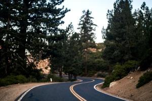 път, гора, път, начин, пейзаж, магистрала, небе, гора, пътуване, трева, планински