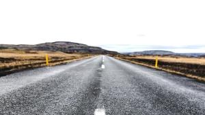 Camino, asfalto, camino, carretera, unidad, cielo
