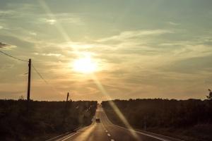Route, lumière du soleil, route, ciel, paysage, chemin