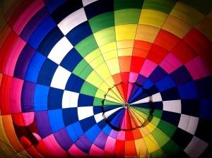 fargerik, spektrum, ballong, fly, farge