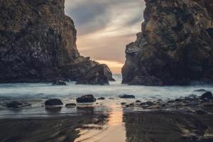 sea, rocks, landscape, beach, coast