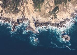 sea, coast, cliff, summer