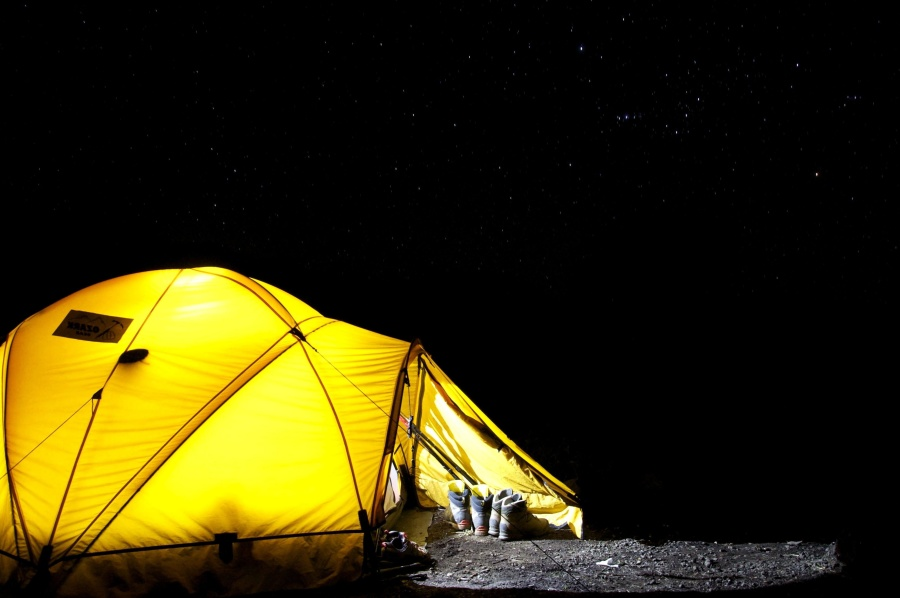 night, tent, shelter, structure