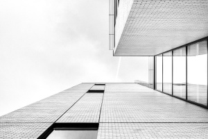 sky, architecture, hall, house, modern, building, grey sky