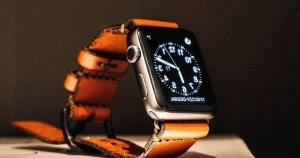 technology, gadget, wristwatch, leather, strap