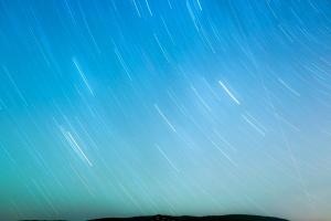 hvězdy, obloha, horizont