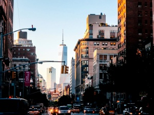 street, traffic, city, urban, tower, downtown, car, travel