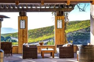 Mobili, sedia, tavolo, terrazza, architettura, casa